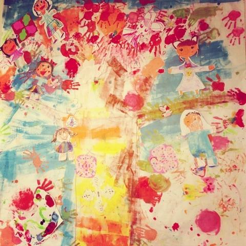 木の絵に花が咲く!! イメージ画像