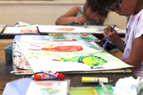 暑い一週間♪子どもたちのアートも熱い♪ イメージ画像