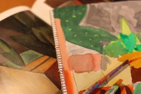 冬とピカソと絵画と イメージ画像