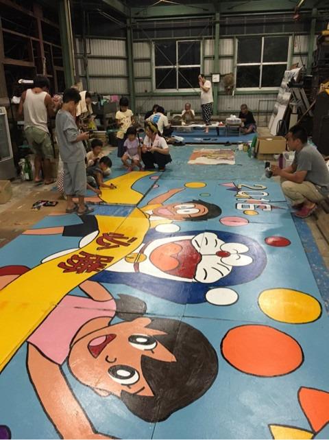 野間学区区民運動会の大きな応援マスコット看板作り♪ イメージ画像