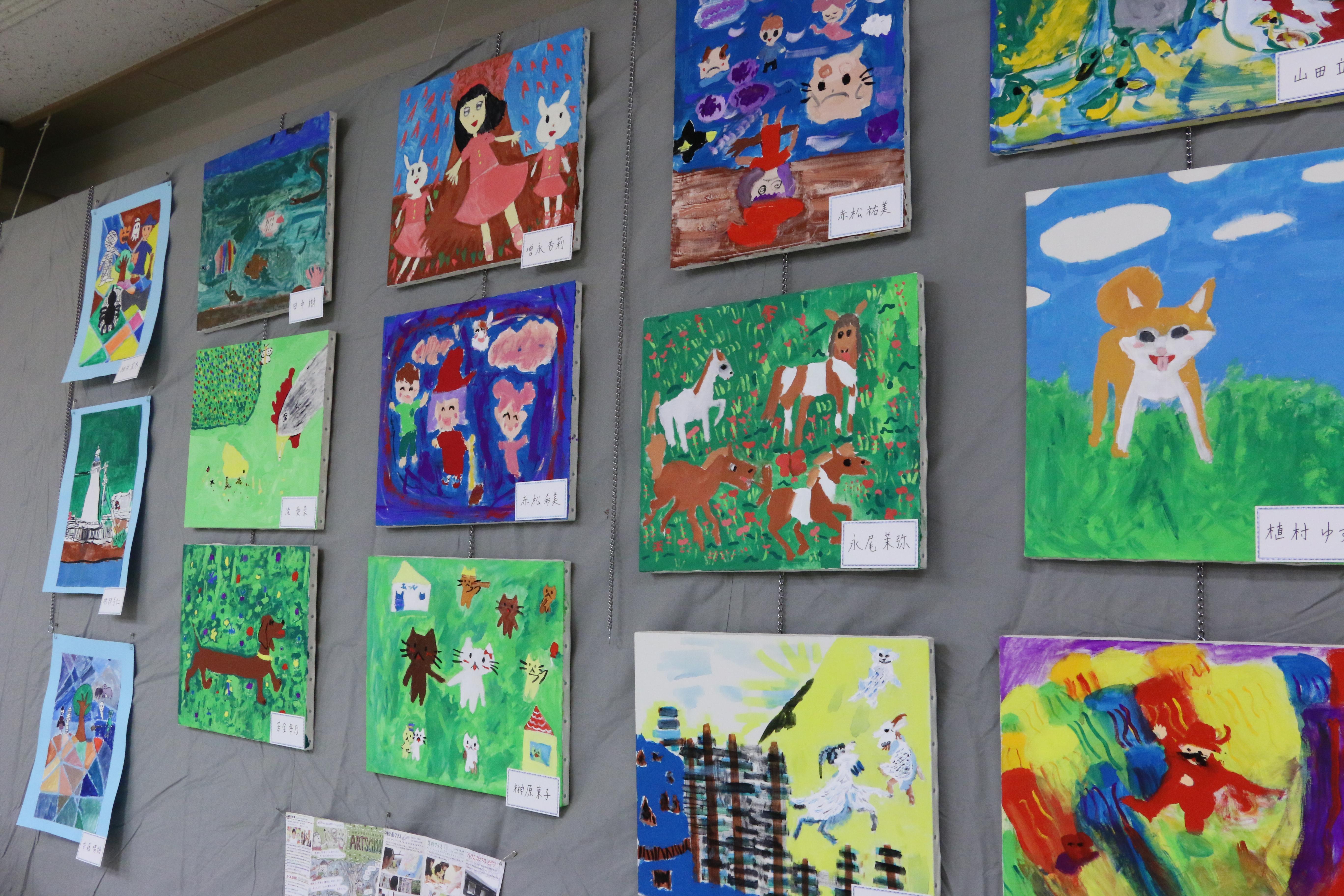 絵画クラス作品の展示 イメージ画像