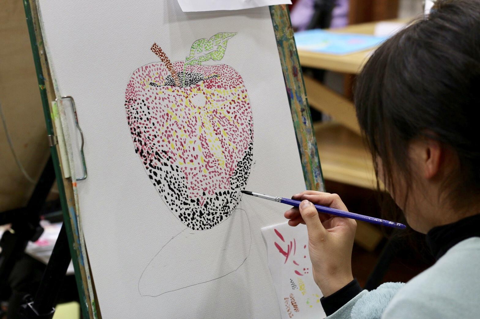 絵画クラス 小学生 点描画レッスン♪ イメージ画像