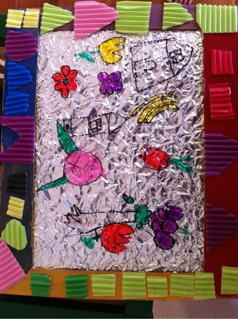 ステンドグラス風のキラキラ絵 イメージ画像