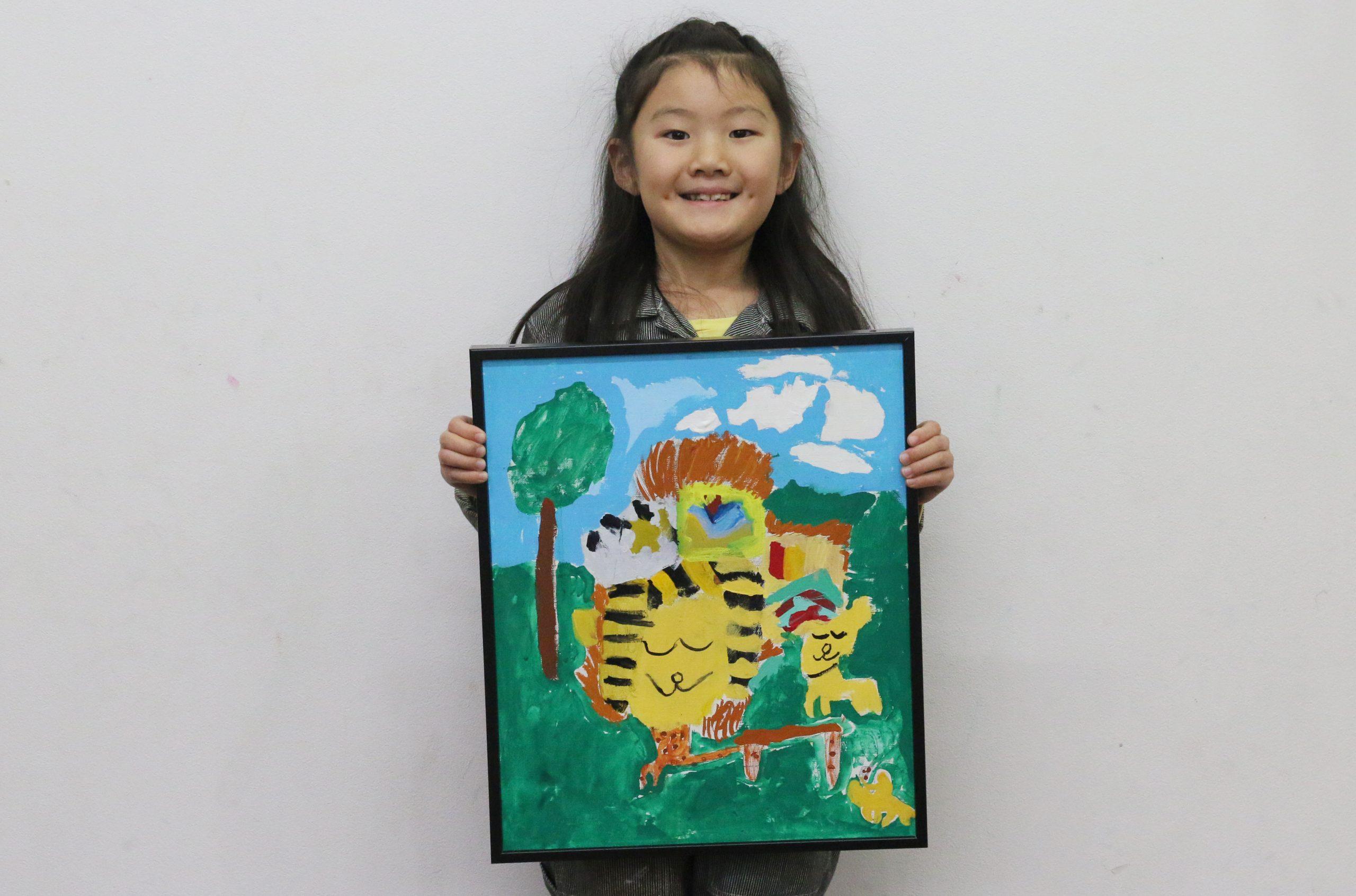 『ライオン』 絵画子どもクラス 榊原夢彩ちゃん イメージ画像