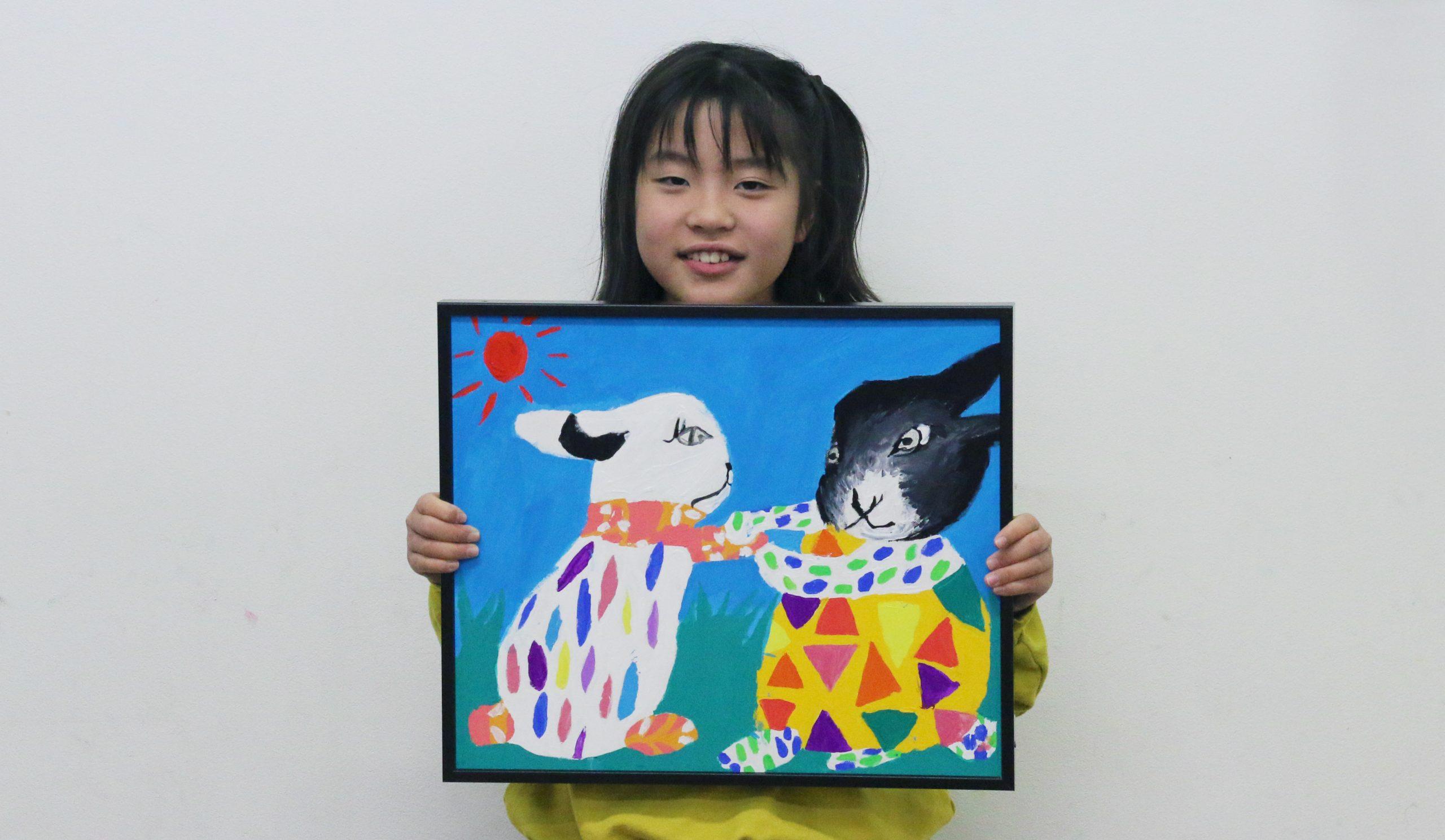 『うさぎ』 絵画子どもクラス 大辻陽和ちゃん イメージ画像