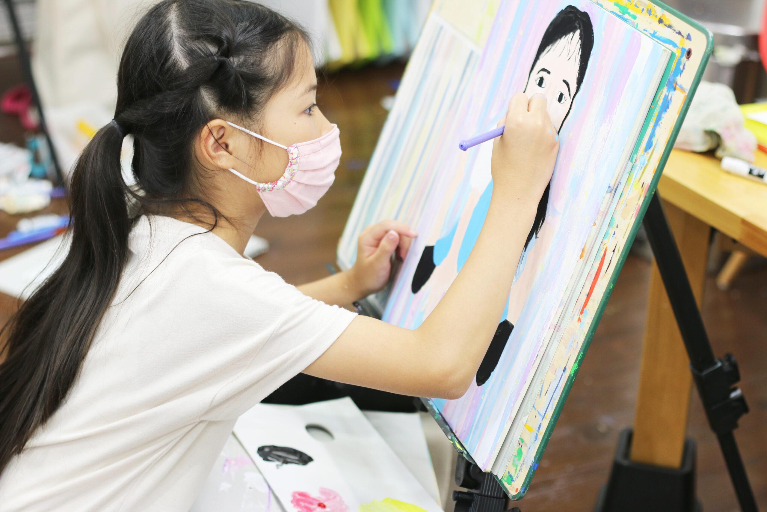 【絵画子どもクラス 自画像レッスン♪】 イメージ画像